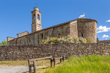Old church in Prunetto, Italy.
