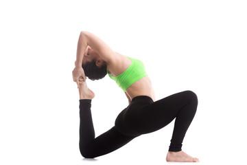 King pigeon yoga pose