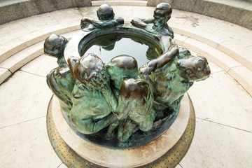 Sculpture Well of Life in Zagreb, Croatia