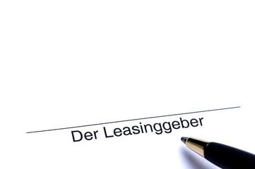 Unterschrift der Leasinggeber