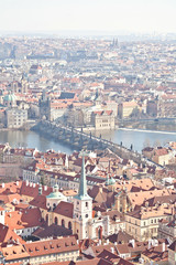 View to the historic district of Prague