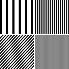 Vector patterns set of stripes pattern background.