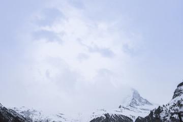 Matterhorn Mountain, famous mount in Swiss Alps