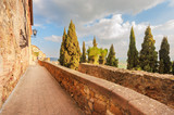 Beautiful and colorful streets of the small and historic Tuscan - 80245699