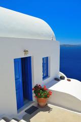 Beautiful santorini architecture