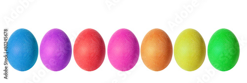 multi-colored Easter eggs the isolated - 80245678