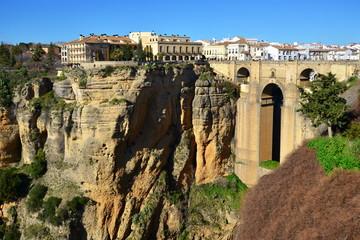 village Ronda with its famous bridge,Spain