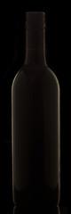 Wine Bottle Black Background