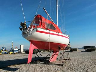 Sailboat in Dry Dock