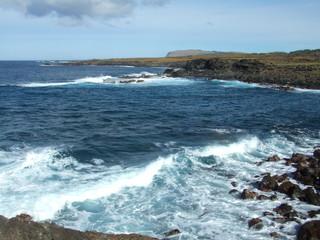 Océano de la isla de Pascua