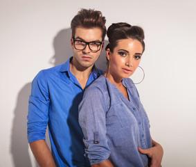 Portrait of a fashion couple