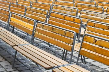 Open air auditorium benches