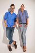 fashion couple posing together
