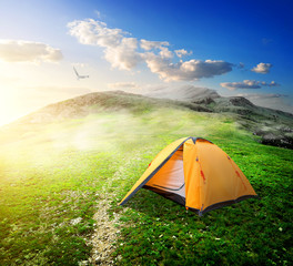 Tent in valley