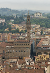 Florence cityscape with Palazzo Vecchio, Italy