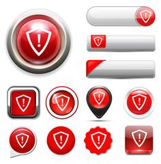 shield danger button