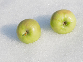 two bright apple