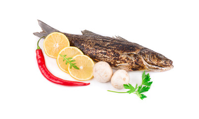 Grilled seabass with vegetables