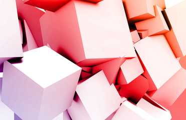 Cubes Square Background