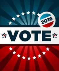 Patriotic 2016 voting poster
