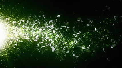 Musical Notes Green Drifting