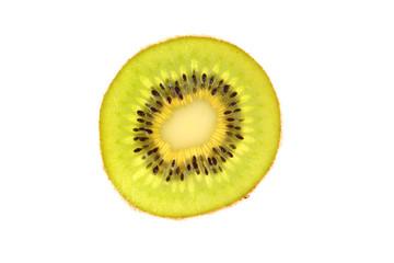 Slice of kiwi close-up