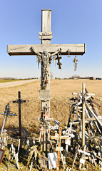 Hill of crosses, famous religion place in Lithuania