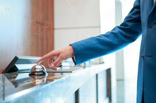 Hotel service bell at reception - 80252216