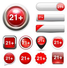 + 21 button