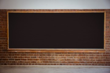 Large chalkboard in classroom