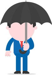 Businessman carrying umbrella