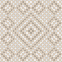 Seamless geometrical pattern with circles on a beige background.