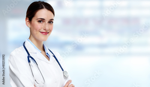 Leinwandbild Motiv Medical doctor woman.