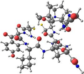 Oxytocin molecule isolated on white