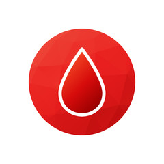 Blood donation symbol or logo