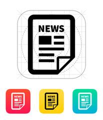 News file icon.