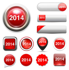 year 2014 button