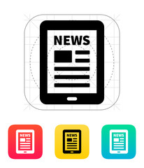 Tablet PC newspaper icon.