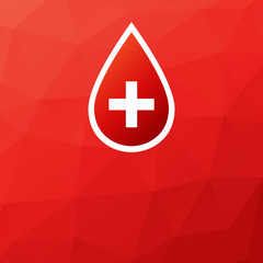 Blood donation vector medical background