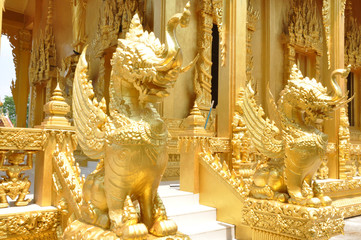 holy buddha statue in temple of thailand