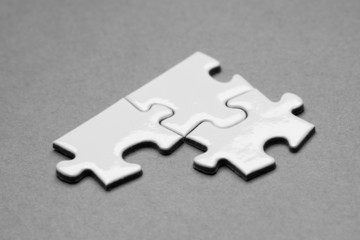 Business success team in jigsaw
