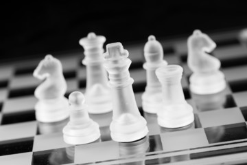 Chess figure, business concept strategy, leadership, team and su