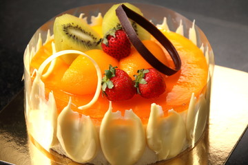 Refreshing peach mousse