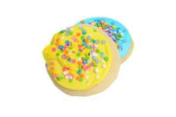 closeup easter cookies