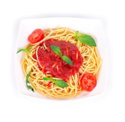 Tagliatelli pasta with tomatoes
