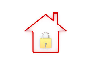 3d Home with Lock