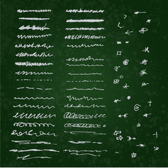 Collection of individual hand drawn elements