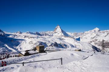 Matterhorn mountain, zermatt in switzerland