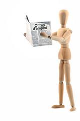 Le lecteur du journal d'offres d'emploi