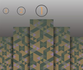 Abstract background of geometric triangles, infographics